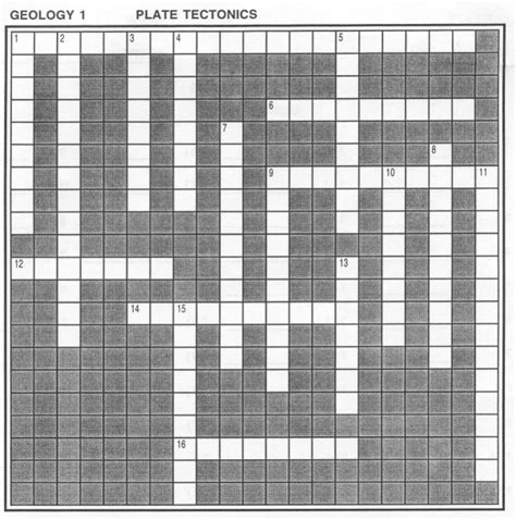 Floor Crossword Clue by Geology 300 With Terry J Boroughs Plate Tectonics The