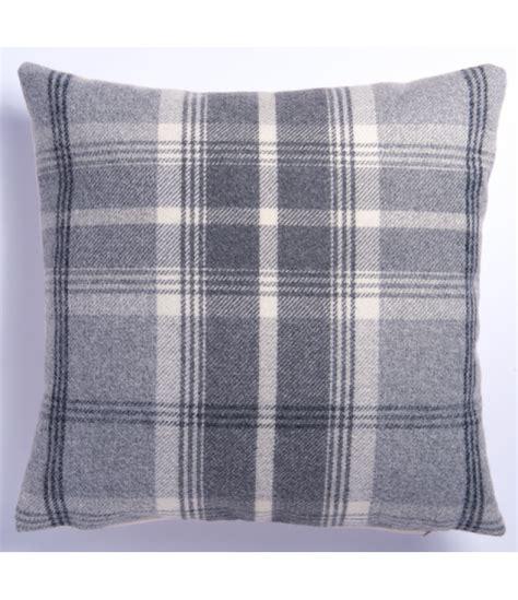 big cusions cream cushions large highland mist tartan