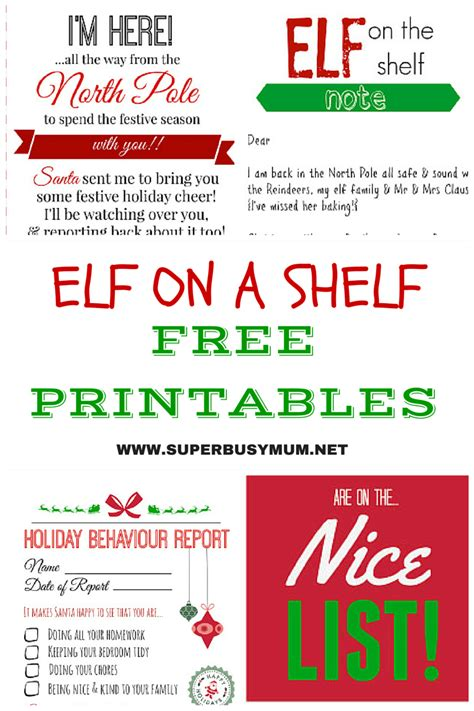 printable elf on a shelf pictures elf on a shelf archives super busy mum