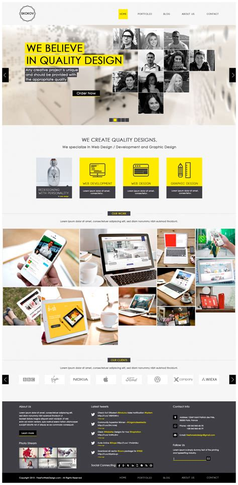 Web And Graphic Design Portfolio Website Template Psd Download Download Psd Ui Designer Portfolio Templates