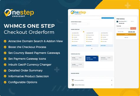 step checkout whmcs orderform template  page