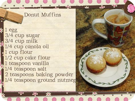 printable donut recipes yummy donut muffins printable recipe eyeinspire