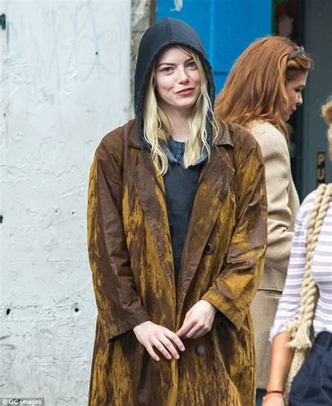emma stone gets into character on netflix s maniac set emma stone gets into character while filming in new york