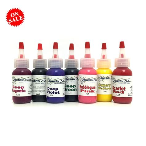 tattoo ink sets for sale tattoo ink set with starbrite 7 colors in 1 oz bottles