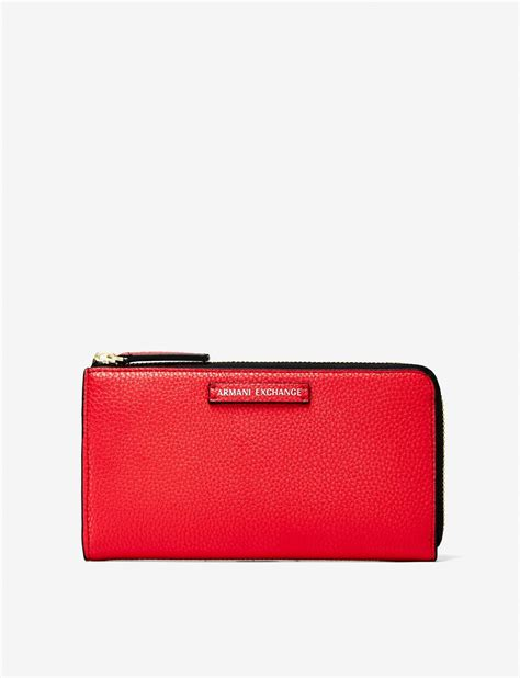 Armani Exchanges Dompet Walet armani exchange contrast zip pebble wallet small leather for a x store