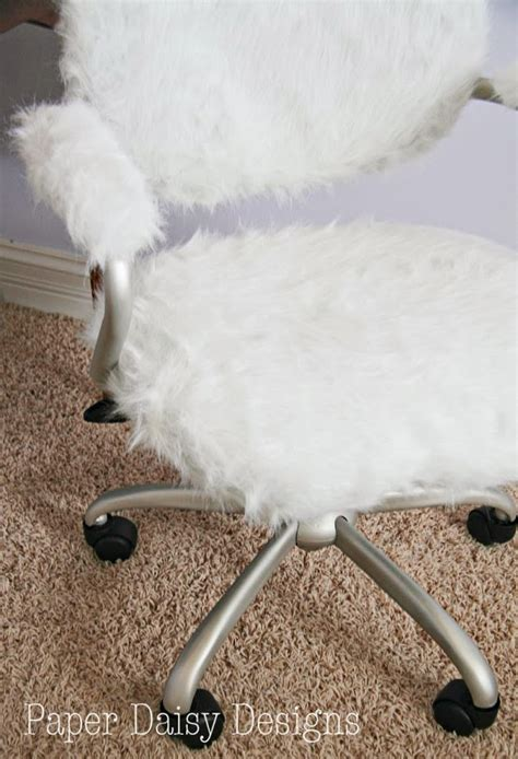 Fuzzy Desk Chair by Desk Chair Pottery Barn Hack