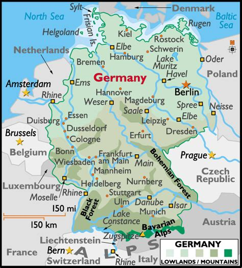 map of germany showing cities map of germany with cities