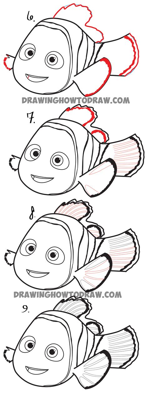 doodle draw step by step finding nemo finding dory archives how to draw step by