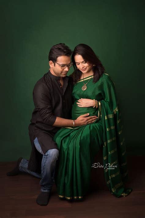 maternity photo shoot  indian attire edita photography