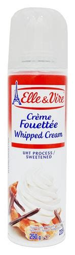 cara membuat whipped cream elle vire elle n vire creme fouettee whipped cream uht process spray can