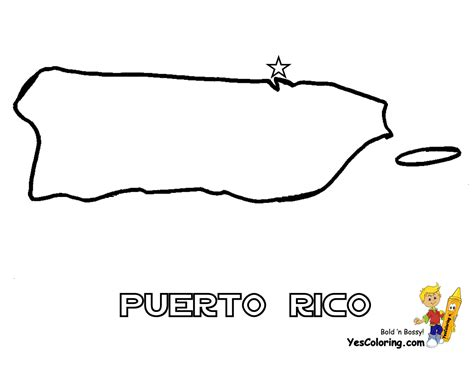 coloring page map of puerto rico puerto rico map picture you can print out at yescoloring