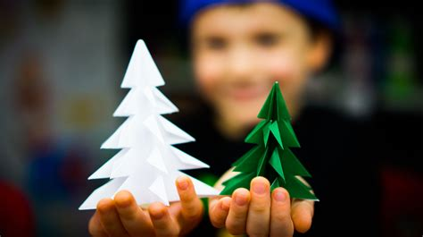 fold  origami christmas tree art  kids hub