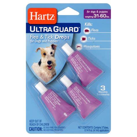 Hartz Ultra Guard Flea Tick Drops For 60 Lbs 108663 hartz ultraguard drops for dogs 31 lb 60 lb
