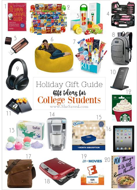 holiday gift guide gifts for college students shesaved 174