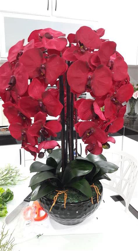 gubah bunga orkid  simple tapi cantik confirm