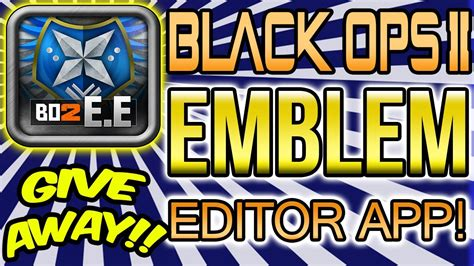 Chaosxsilencer Giveaway - bo2 quot the emblem editor app for iphone quot pimp your playercard giveaway details