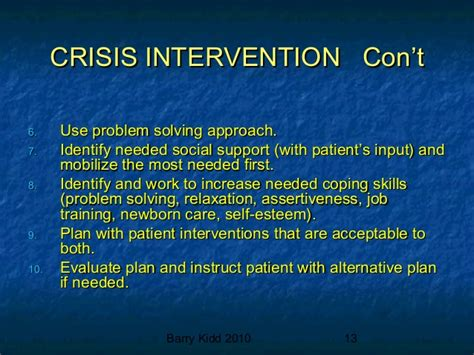 crisis intervention strategies crisis intervention ppt