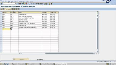 sap chart of accounts table sap fi chart of accounts lesson 3 youtube