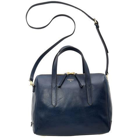 Fossil Satchel Grey 1 lyst fossil sydney leather satchel in blue