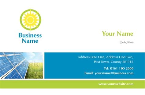 solar panel business card templates print templates printing uk