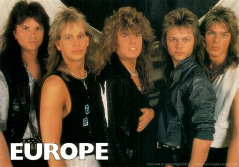 europe band pictures the final countdown john norum era 1984 1986