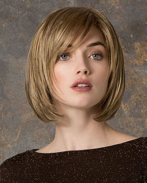 haircuts for big round head 30 best short bob haircuts with bangs and layered bob