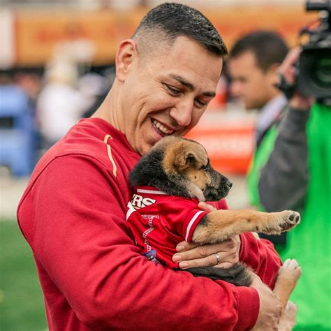 after losing k 9 partner abc10 woodland officer gifted new puppy at 49ers