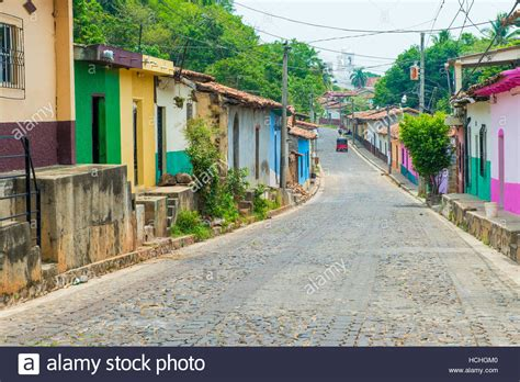 buying a house in el salvador street view of suchitoto el salvador the colonial town of suchitoto stock photo