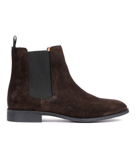 m s mens boots h m chelsea boots in brown lyst