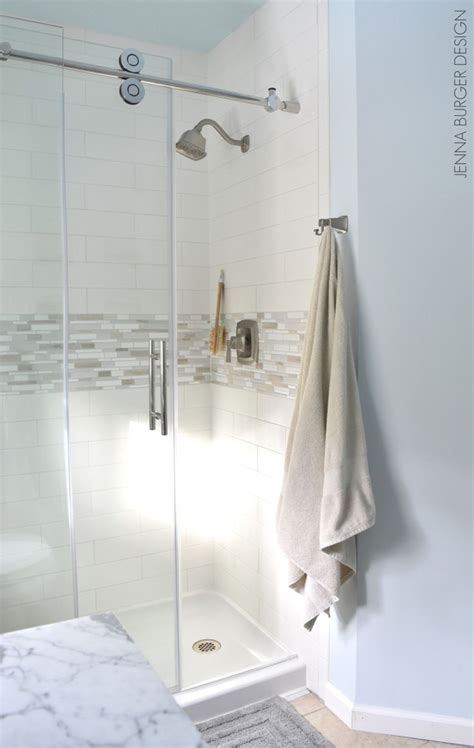 how to install a swinging shower door if space is tight in your bathroom install a rolling