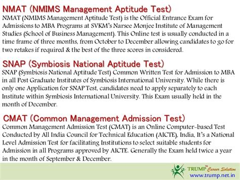 Aptitude Test For Mba by Mba Entrance Exams Cat Xat Cmat Mah Cet Snap Nmat Iift