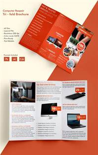 tri fold brochure publisher template media templates