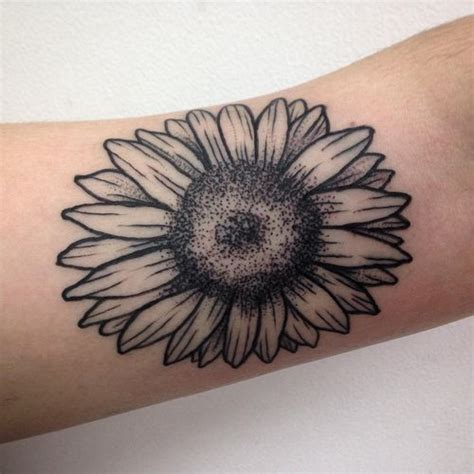 black and white sunflower tattoo 90 black and white sunflowers design ideas