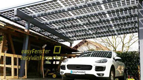 Carport Mit Solarmodulen Bauen Glas Glas Module