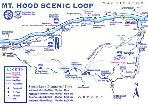 map of oregon gorge oregon columbia river gorge trip