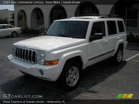 2007 Jeep Commander White White 2007 Jeep Commander Limited Saddle Brown