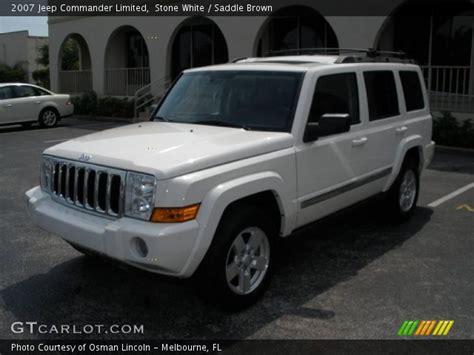 2007 White Jeep Commander White 2007 Jeep Commander Limited Saddle Brown