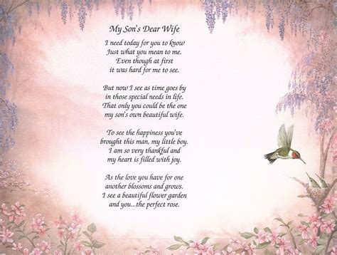 Wedding Day Poem For Son And Daughter In Law