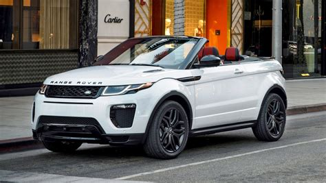 land rover convertible black 2016 range rover evoque convertible la