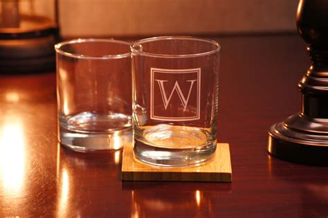 Handmade Whiskey Glasses - custom whiskey glasses set of 2 personalized