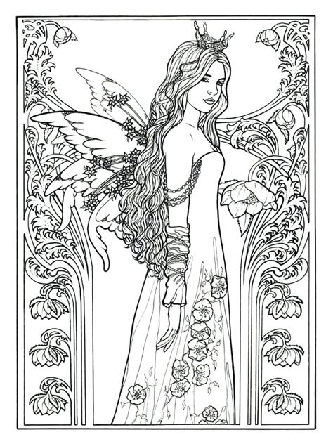fairy coloring pages  adults  coloring pages  kids