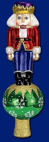 nutcracker old world christmas blown glass tree topper