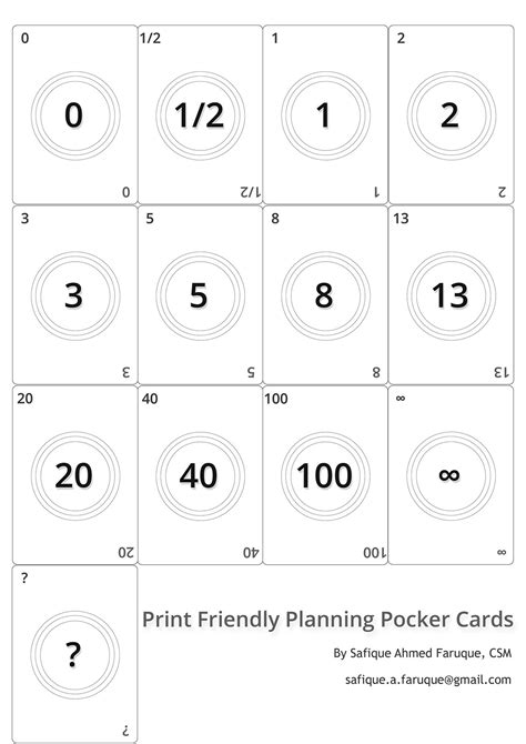 scrum planning cards template picture agile planning cards black and white
