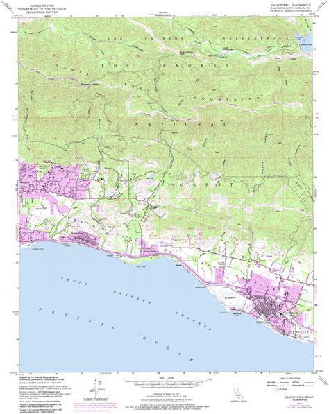 usgs maps carpinteria topographic map ca usgs topo 34119d5