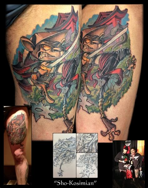into the woods tattoo custom artist frank lanatra into the woods