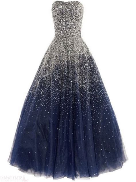navy blue beaded prom dress gorgeous strapless navy blue tulle beaded sparkly