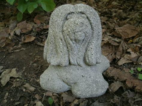 shih tzu garden statue vintage cement 7 quot shih tzu maltese garden statue weathered concrete
