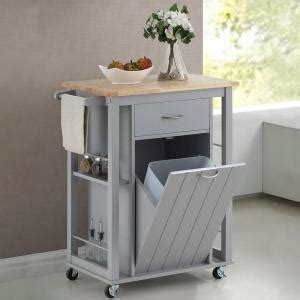 Kitchen Faucets Yonkers Baxton Studio Yonkers Gray Kitchen Cart With Wood Top