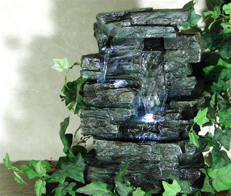 new tabletop rock indoor tabletop water fountain led