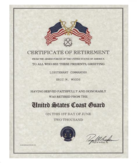 certification letter for retirement navy retirement certificate template retirement